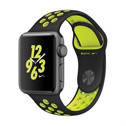 Apple Watch Nike+:Space Gray Aluminum Case with Black/Volt Nike Sport Band 42mm