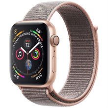 -Apple Watch Series 4 GPS Gold Aluminum Case With Pink Sport Loop 40mm