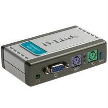 سوییچ 2 پورت KVM دستکاپ دی لینک KVM-121-D-Link KVM-121 2-Port KVM Desktop with Audio Support:Switch